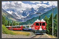 Swiss Alps and the Bernina Express