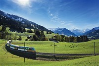 The Swiss Alps and  Golden Pass Panoramic Train